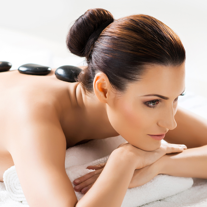 Body therapy, massage, hot stones, at Vitality Medi-Spa in Halifax NS