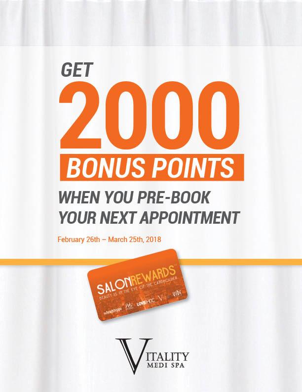 2000 Salon Rewards Pre Book