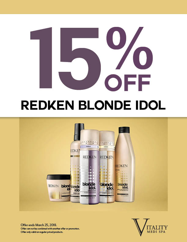 15% Off Blonde Idol