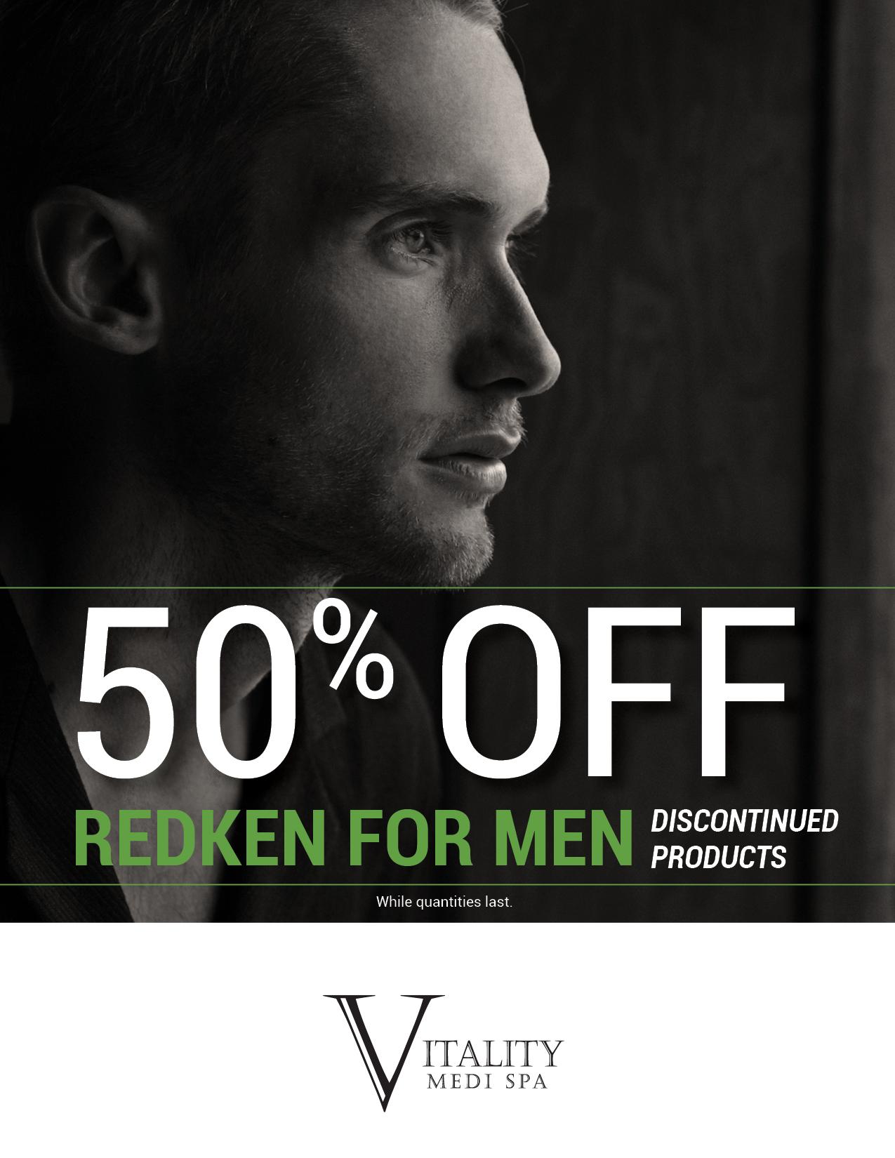 50% Off Redken For Men